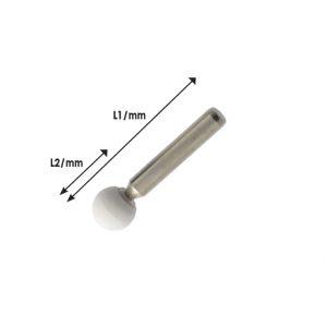 Πέτρες λείανσης με αξονάκι δραπάνου Ø6mm σφαιρική