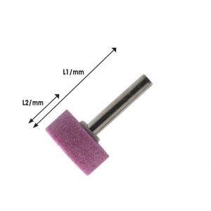Πέτρες λείανσης με αξονάκι δραπάνου Ø6mm κυλινδρικές