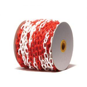 Αλυσίδα πλαστική άσπρη-κόκκινη