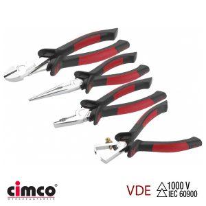 Σετ πένσα-πλαγιοκόφτη-απογυμνωτή-μυτοτσίμπιδο VDE CIMCO