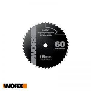 Δίσκος κοπής πολλαπλών χρήσεων 115mm HSS 60Τ WORX