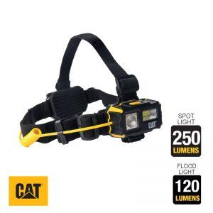 Φακός κεφαλής 4 λειτουργιών 250lum. CAT Light