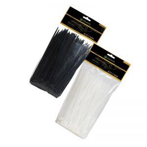 Δεματικά καλωδίων λευκά-μαύρα FASANO