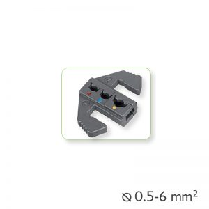 Εναλλάξιμα καλούπια πένσας για μονωμένα τερματικά Ø0.5-6mm²