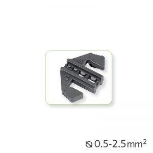Εναλλάξιμα καλούπια πένσας για μονωμένα τερματικά Ø0.5-2.5mm²