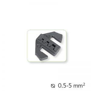 Εναλλάξιμα καλούπια πένσας μη μονωμένα τερματικά Ø0.5-5mm²