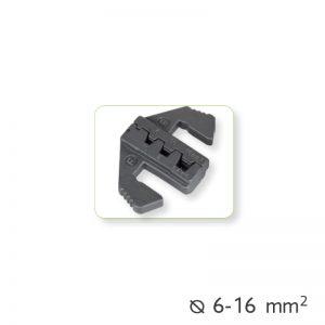 Εναλλάξιμα καλούπια πένσας για καλώδια-τερματικά Ø6-16mm²
