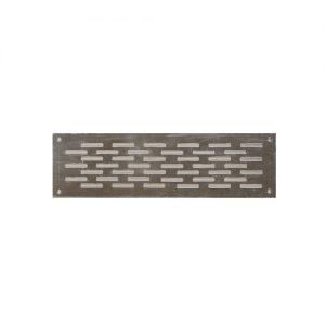 Εξαεριστήρες αλουμινίου πατωμάτων περσίδα διπλή 5x15 cm