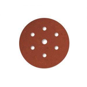 Γυαλόχαρτα Velcro κόκκινα με τρύπες REINHARD