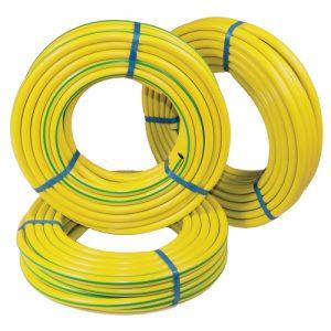 Εύκαμπτοι σωλήνες pvc ενισχυμένοι πολυεστερική πλέξη κίτρινο