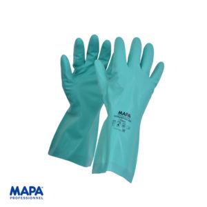 Γάντια νιτριλίου πράσινα αντιμικροβιακή επένδυση 492