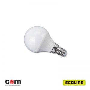 Λαμπτήρες φωτισμού E14 LED 5w σφαιρική Ecoline