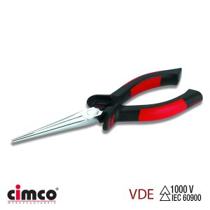 Πένσα μηχανικού με ίσιες επίπεδες στρογγυλεμένες άκρες VDE CIMCO