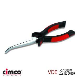 Τσιμπίδα με μόνωση VDE κυρτή μακριά οβάλ μύτη 45° CIMCO