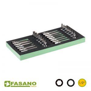 """Σετ καρυδάκια καστάνιας Allen/Πολύσφηνα 1/2"""" FASANO"""