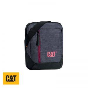 Τσαντάκι ώμου και για tablet γκρι/μπορντό 2ltr CAT