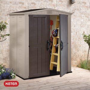 Αποθήκη κήπου με δίφυλλη πόρτα 6x3 FACTOR KETER