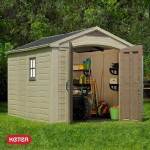 Αποθήκη κήπου με δίφυλλη πόρτα 8x11 FACTOR KETER