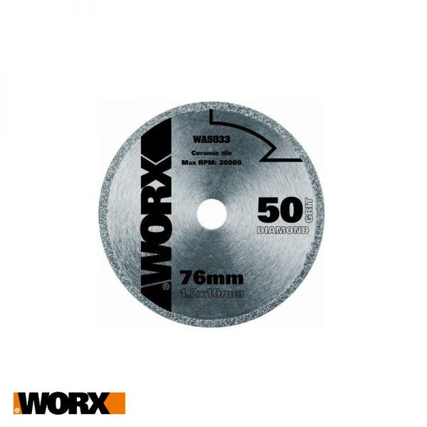 Δίσκος με επικαλύψη διαμαντιού mini 76mm WORX