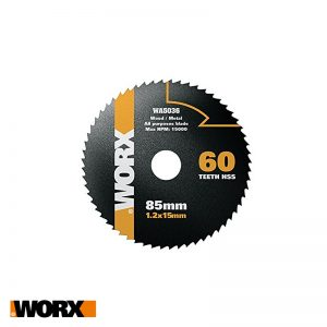 Δίσκος κοπής πολλαπλών χρήσεων 85mm 44T HSS WORX