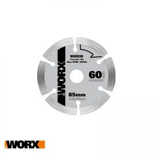 Δίσκος με επικαλύψη διαμαντιού 85mm 60Τ WORX