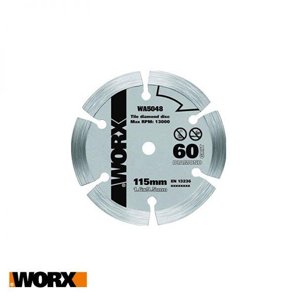 Δίσκος κοπής με επικάλυψη διαμαντιού 115mm WORX