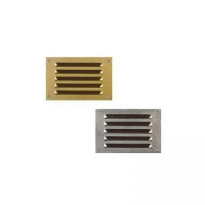 Εξαεριστήρες αλουμινίου πατωμάτων περσίδα μονή 5×8.5 cm