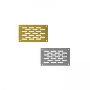 Εξαεριστήρες αλουμινίου πατωμάτων μονή περσίδα 5×8.5 cm