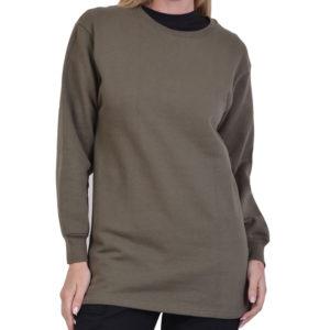 Μπλούζα φούτερ βαμβακερό χακί