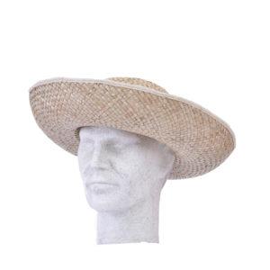 Καπέλο ψάθινο με γείσο