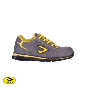 Παπούτσια ασφαλείας δερμάτινα γκρί BICAP TRED S1P