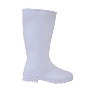 Γαλότσες γόνατος νιτριλίου με επένδυση λευκές