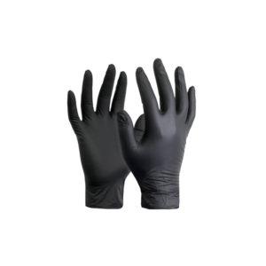 Γάντια νιτριλίου αμφιδέξια χωρίς πούδρα βαρέος τύπου μαύρα
