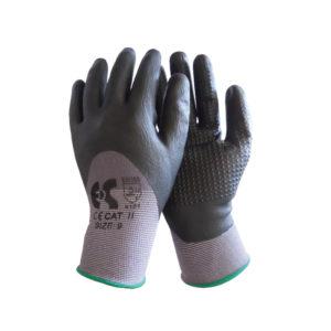 Γάντια νιτριλίου με κόκκους μαύρα NBR