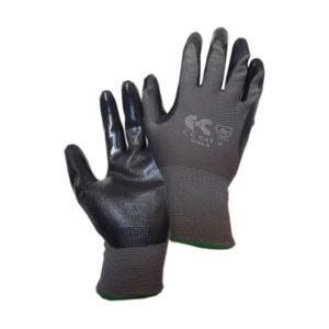 Γάντια βαμβακερά εμβαπτισμένα σε νιτρίλιο μαύρα NBR