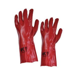 Γάντια PVC με εσωτερική βαμβακερή επένδυση κόκκινα