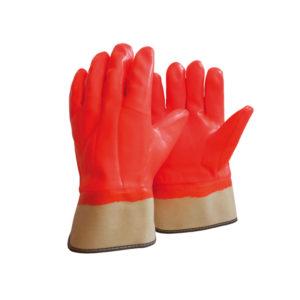 Γάντια PVC με επένδυση ισχυρού ψύχους πορτοκαλί
