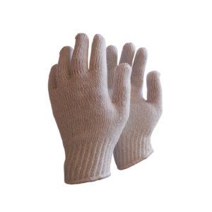 Γάντια πλεκτά λευκά πλεκτή μανσέτα ERGO