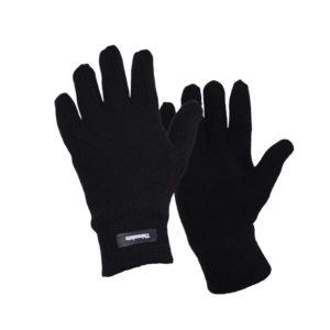 Γάντια πλεκτά με επένδυση ισχυρού ψύχους μαύρα