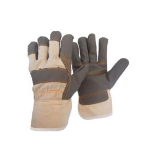 Γάντια δερματοπάνινα με βαμβακερή επένδυση AS