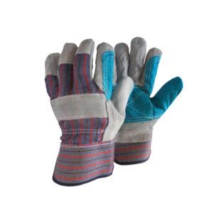 Γάντια δερματοπάνινα με ενίσχυση & βαμβακερή επένδυση
